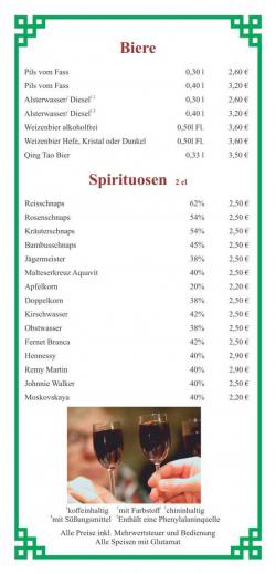 Biere - Spirituosen