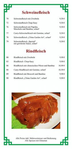 Schweinefleisch - Rindfleisch
